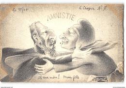 CPA Dessin De Molynk L'Amnistie Affaire Dreyfus Le Crayon N°7 - Satira