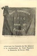 Themes Div-ref FF509-drapeau Du Parti Communiste Sfic Rayon De Bagnolet -enlevé Par Les Camelots Du Roi Fevrier 1936- - Partiti Politici & Elezioni