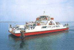 "Carte-photo - Le Bac ""Ulysse"" Ile De Djerba - Tunisie - Années 90 - Ferries"