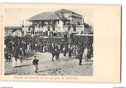 CPA Liban Station De Chemin De Fer Au Port De Beyrouth - Liban