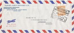 Venezuela Air Mail Cover Sent To Denmark 15-2-1963 Single Franked - Venezuela