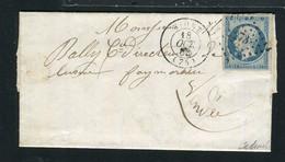 Rare Lettre De Niort Pour Fontenay Le Comte ( 1853 ) Avec Un N° 10 Présidence - 1852 Louis-Napoléon