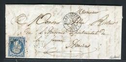 Rare Lettre De Montdidier Pour Amiens ( 1853 ) Avec Un N° 10 Présidence - 1852 Louis-Napoléon