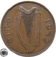 LaZooRo: Ireland 1/2 Penny 1942 VF - Ireland