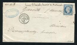 Rare Lettre De Gaillac Sur Tarn Pour Grenoble ( Juin 1854 ) Avec Un N° 10 Présidence - 1852 Louis-Napoléon