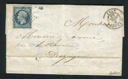Rare Lettre De Saint Tropez Pour Draguignan ( Var 1853 ) Avec Un N° 10 Présidence - 1852 Louis-Napoléon