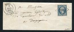 Rare Lettre De Cuers Pour Draguignan ( Var 1853 ) Avec Un N° 10 Présidence - 1852 Louis-Napoléon