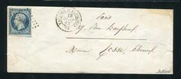 Rare Lettre De Valence D'Albigeois Pour Paris ( Tarn 1853 ) Avec Un N° 10 Présidence - 1852 Louis-Napoléon
