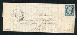 Rare Lettre Des Herbiers Pour Napoléon Vendée ( Vendée 1853 ) Avec Un N° 10 Présidence - 1852 Louis-Napoléon