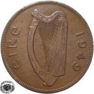 LaZooRo: Ireland 1 Penny 1949 XF - Ireland