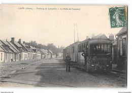 CPA 02 Laon Faubourg De Laneuville La Halte Du Tramway - Laon
