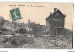CPA 02 Nouvion Le Vineaux La Gare Et Le Train Tramway - Altri Comuni