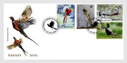 Romania 2020 FDC Pheasants Faisans Birds Bird Oiseaux Oiseau - Gallináceos & Faisanes