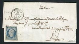 Rare Lettre De Poitiers Pour Paris ( Vienne 1853 ) Avec Un N° 10 Présidence - 1852 Louis-Napoléon