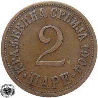 LaZooRo: Serbia 2 Pare 1904 XF - Serbia