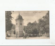 COUVET 495 L'EGLISE (PETITE ANIMATION)  1913 - NE Neuchâtel