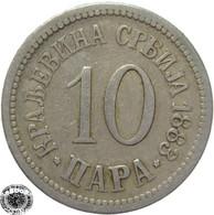 LaZooRo: Serbia 10 Para 1883 VF - Serbia