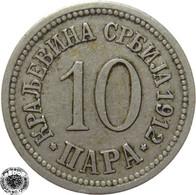 LaZooRo: Serbia 10 Para 1912 XF - Serbia