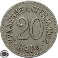 LaZooRo: Serbia 20 Para 1912 XF - Serbia