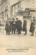 PARIS  LE XV ARRONDISSEMENT INONDE JANVIER 1910 UNE REUNION D'OFFICIEL DU QUARTIER DE JAVEL RUE LACORDAIRE - La Crecida Del Sena De 1910
