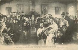 PARIS  LE XV ARRONDISSEMENT INONDE JANVIER 1910 UN ASILE DE 150 LITS INSTALLE DANS LA CHAPELLE DES CATECHISMES GRENELLE - La Crecida Del Sena De 1910