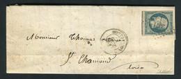 Rare Lettre De Montbrison Pour St Chamond ( 1853 ) Avec Un N° 10 Présidence - Cachet PC 2071 - 1852 Louis-Napoléon