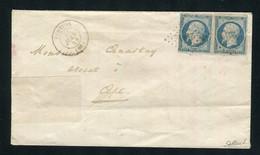 Rare Lettre En Double Port De Pertuis Pour Apt ( 1853 ) Avec Deux N° 10 Présidence - 1852 Louis-Napoléon