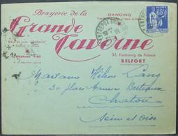 France - Advertising Cover 1938 Beer Brewery Dancing Belfort - Bières