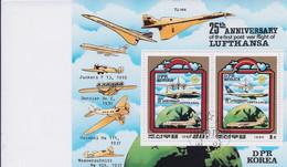 Korea DPK - 1980 -  Anniversary Of Lufthansa - Mi 2062/63  - Used - Korea, North