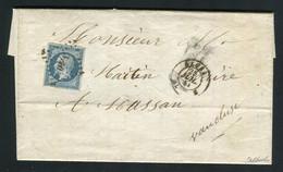 Rare Lettre D'Alger Pour Massan ( 1853 ) Avec Un N° 10 Présidence - 1852 Louis-Napoléon