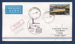 Italie - Premier Vol - Paris - Cairo - Alitalia - 1980 - Vliegtuigen