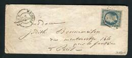 Rare Lettre De Moissac Pour Paris ( 1853 ) Avec Un N° 10 Présidence - 1852 Louis-Napoléon
