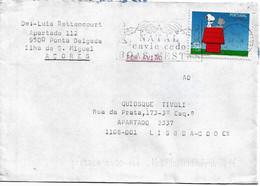 Portugal , 2000 , Snoopy , Schultz , Ponta Delgada Mechanical Postmark NATAL ENVIE CEDO BOAS FESTAS - Comics