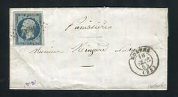 Rare Lettre De Roanne Pour Panissières ( 1854 ) Avec Un N° 10 Présidence - 1852 Louis-Napoléon