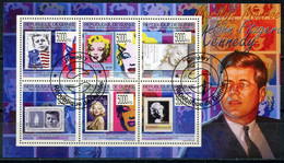 GUINEA 2009 G109-1 Celebrities US President John F. Kennedy And Film Actress Marilyn Monroe Stamps On Stamps - Kino