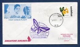 Singapore - Premier Vol - Singapore - Bangkok - Singapore Airlines - 1981 - Airplanes