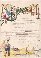 MEHIN Sur YEVRE (CHER 18) Fédération Nationale De Sauvetage  BREVET De NAGEUR Illustré Par René Morlet - Diploma's En Schoolrapporten