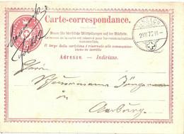 PK 2  Sissach - Aarburg           1872 - Stamped Stationery