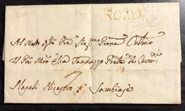 1761 ROMA PER NAPOLI RAY - ...-1850 Préphilatélie