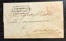 1813  ROMA PER  CANNINO  RAY - 1. ...-1850 Prefilatelia