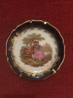Piattino In Porcellana Limoges Francese Collezione Artigianale Vintage 10cm - Limoges (FRA)