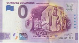 Billet Touristique 0 Euro Souvenir France 13 Carrières De Lum Baux Dali 2020-5 N°UEDH001225 - Private Proofs / Unofficial