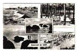 85 Sion Sur L'Océan St Hilaire De Riez En 5 Vues Plages Rochers Camping Et Forêt En 196? édit Jehly Poupin Mortagne - Saint Hilaire De Riez