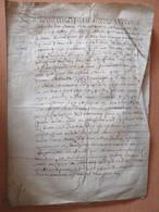 Parchemin Manuscrit Sur VELIN Daté 1662 - Acte De Vente Notarié (probablement) - Ville De Mortain - Manoscritti