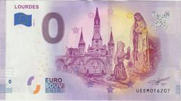 Billet Touristique 0 Euro Souvenir France 65 Lourdes 2020-2 N°UEEM016207 - Private Proofs / Unofficial