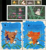 Sierra Leone 2001 Butterflies Fauna 2klb+ Set+2s/s MNH - Schmetterlinge