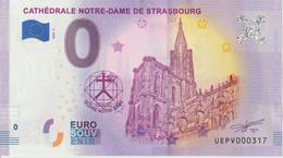 Billet Touristique 0 Euro Souvenir France 67 Cathédrale De Strasbourg 2020-2 N°UEPV000317 - Private Proofs / Unofficial