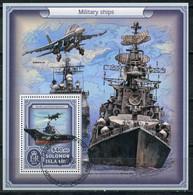 Solomon Islands 2017 SO000 Russian Warships. Aircraft Cruiser Admiral Kuznetsov. Aviation - Salomoninseln (Salomonen 1978-...)