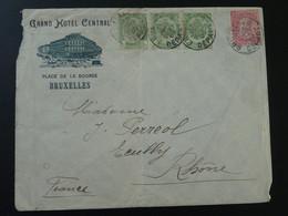 Lettre Cover Entête Grand Hotel Central De Bruxelles Belgique 1905 - Marcophilie