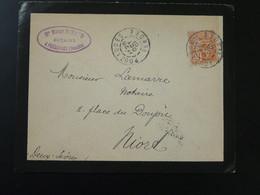 Lettre 15c Mouchon Envoyée Par Un Notaire Pouzauges 85 Vendée 1901 (ex 1) - Storia Postale